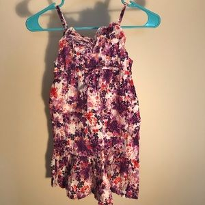 Old Navy small 6-7 multicolor cotton floral dress